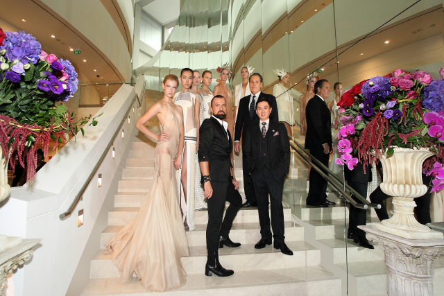 frank-cintamani-and-mark-juliano-with-julien-fournic3a9-and-models